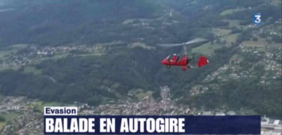 balade en autogire France 3